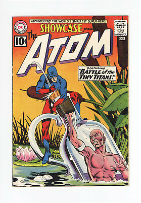 SHOWCASE #34 - KEY ISSUE: 1st SILVER AGE ATOM! - 1961 - NICE GRADE - WHITE PAGES