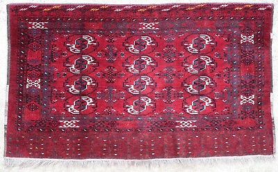 Tapis ancien rug oriental orient tribal ethnique Afghan Afghanistan Chuval 1950