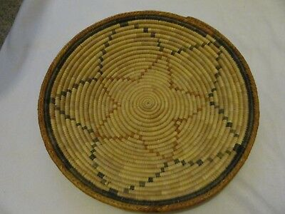 Native American Tightly Woven Indian Basket Pre-Owned No Reserve