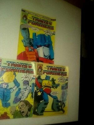 Marvel The Transformers British Weekly 3 Book Lot (1988) RARE