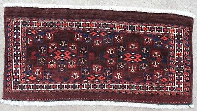Tapis ancien rug oriental orient tribal ethnique Asie Centrale Torba Yomut 1900