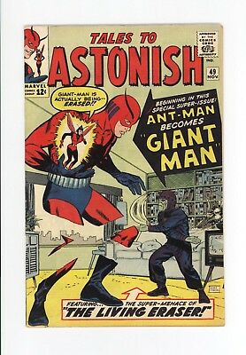 TALES TO ASTONISH #49 - 1st GIANT-MAN, & THE WASP! - BEAUTIFUL HIGHER GRADE 1963