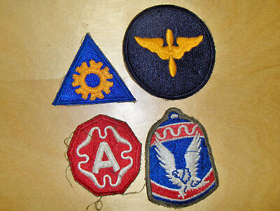 WW2 US Military Patches- Lot of Four, including Air Force Cadet