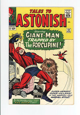 TALES TO ASTONISH #53 - EARLY GIANT-MAN & WASP! - BEAUTIFUL VF 8.5 to VF/NM 9.0