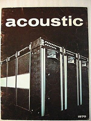 Acoustic Amplifier Catalog And Price List 1970---260, 360, 150, Pa System Rare