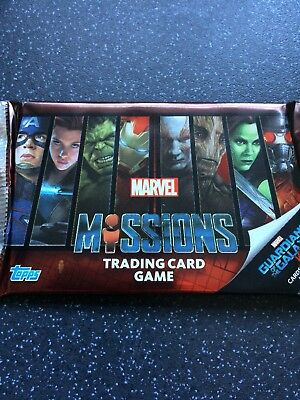 10 X Packs Marvel missions guardians of the galaxy vol 2 Trading Cards New