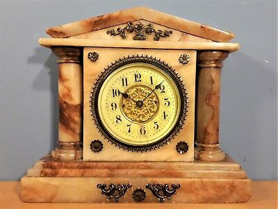 Vintage Small Marble Mantle Clock, Good Working order