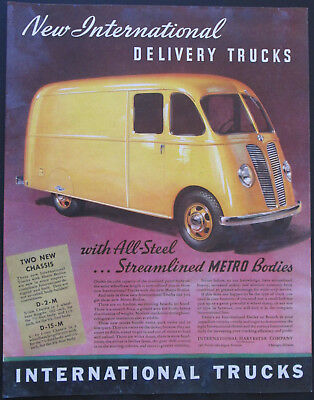 1939 International Delivery Trucks Vintage Print Ad