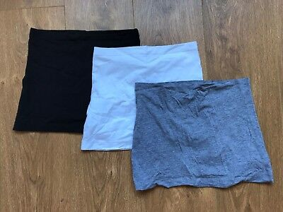 Maternity bump band x 3 New Look size S/M white, grey, black. Great condition!