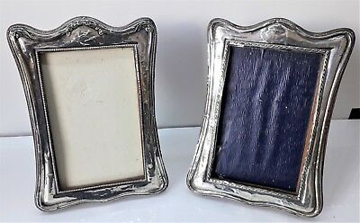 Pair of Sterling Silver Easel Photo Frames. Hallmarked Birmingham 1924