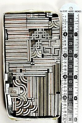 ART DECO BORDER – 12 point Double Rule – Metal Type – Letterpress Printing
