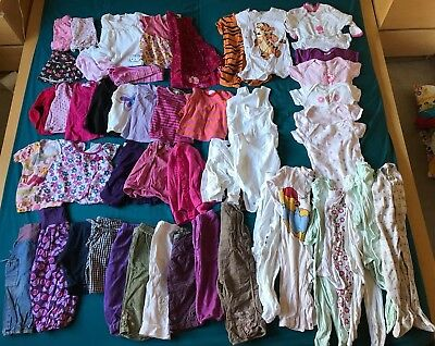 Baby girl 9-12 months (80) bundle in good used condition - 50+ items