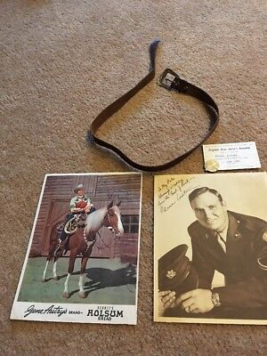 1940s Gene Autry Leather Belt & Holsum Bread Photo & Sergeant Photo/Membership