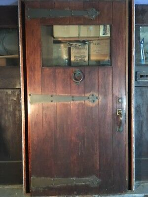 Antique Vintage Historical Exterior Wood Door with Hardware