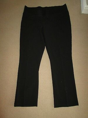 "Lovely Size 18 Black Maternity Trousers 34 "" Leg See Pics!!"