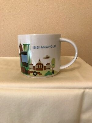 Starbucks Mug 2016? Indianapolis You Are Here Free Shipping