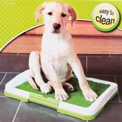 Pet Dog Puppy Toilet Trainer Grass Mat Potty Pad Indoor House Litter Tray C0C7
