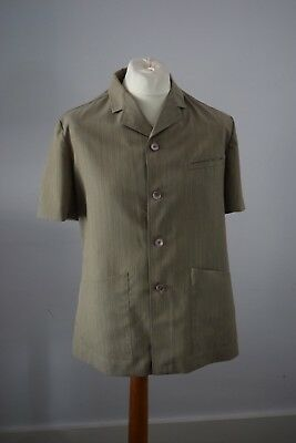 VINTAGE 1950s SAFARI SPORTS MENS SHORT SLEEVED SUIT 40''  TROUSER 36'' 32''