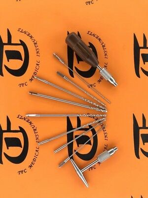 Quick coupling ABD Drill Bit Set 1.1mm to 4.5mm orthopedic instruments by TFC