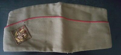 Vintage OFFICIAL Boy Scout Green Garrison Cap Hat with pin, size Medium