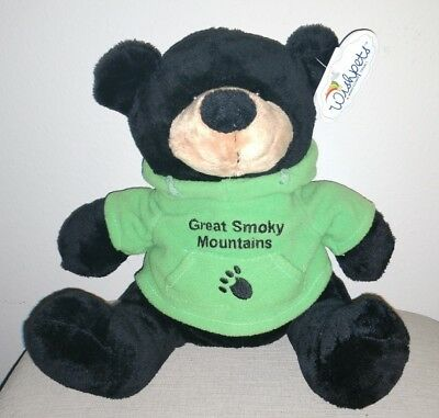 """Great Smoky Mountains Teddy Bear Collectible. New w Tags """"Wish Pets"""" Plush 10''"""
