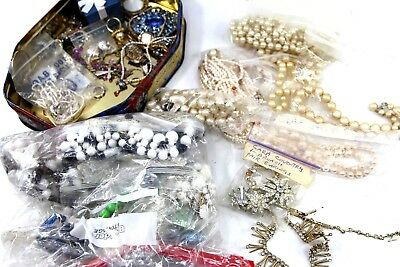 Large Lot of Vintage and Retro Costume Jewelry Including Sarah Coventry PEARLS