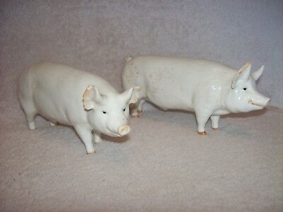 Vintage Beswick Pigs Wall Champion Boy & Wall Queen