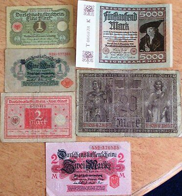 Germany Lot of 6 Notes Used (4)