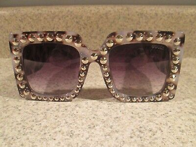 8d1285ad5c ... Oversize Square-Frame Acetate Sunglasses.  189.99 Buy It Now 19h 40m.  See Details. Gucci Gg-0145 s 55  22-145 Jewel Encrusted Gg Monogram
