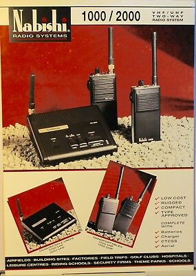 Nabishi Radio  Systems  1000 / 2000 - Vintage Technical Data sheet only