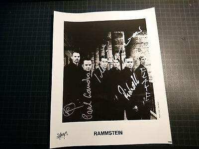 Autogramm RARE 1999 OLD RAMMSTEIN BAND SIGNED AUTOGRAPHED PHOTO TILL LINDEMANN