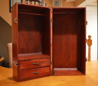 American Girl Doll Armoire Wooden Doll Wardrobe Storage Trunk With Drawers