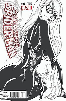 Amazing Spider-Man #4 1St App Silk Campbell Sketch Variant Nm+ Nm/mt