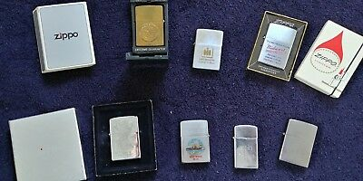 7 ZIPPO LIGHTERS Vintage Advertising Rare USS NEOSHO 200 Anniversary Eagle Claw