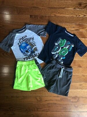 Boys Nike Size 4 Tops Shirts Shorts Jumping Beans Summer Lot Clothing