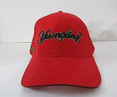 Yuengling Beer Baseball Cap Red Fireman Dogs Embroidered Adjustable EUC