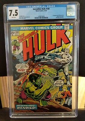 Incredible Hulk #180 CGC 7.5 1st Appearance of Wolverine Marvel