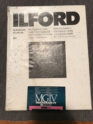 Ilford Multigrade IV Gloss Glossy  6 1/2 x 8 1/2 (16.5x21.6 cm) Paper 100 sheets