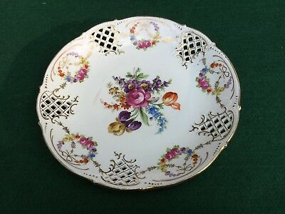 Antique Dresden Muffin plate ca 1900  Cup and Saucer Pattern