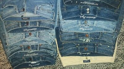 denim lot jeans pants capris shorts sz4 American Eagle, bebe,it brand blue khaki