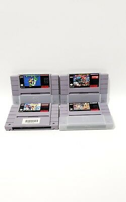 Super Nintendo SNES Game CARTRIDGE  Lot 4 WITH PLASTIC BOXED PROTECTION GAMES~