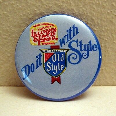Old Style Beer Illinois State Fair Pinback Button Pin