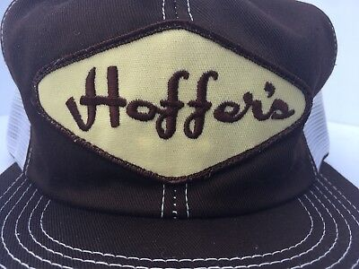 Vintage HOFFERS TRUCKING CO Mesh SnapBack Trucker Hat Patch Made In USA K BRAND