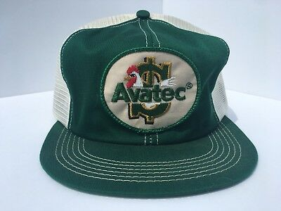 Vintage ZOETIS AVATEC Mesh SnapBack Trucker Hat Patch USA K PRODUCTS Animal
