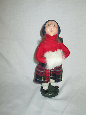 Early Byers Choice  Caroler, 1984, signed, authentic bumpy base Minty