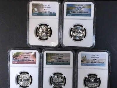 2018-D ATB Park 5 Coin Set NGC MS 67 * All NGC MS 67 - Nice Set! *