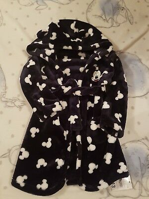 New Disney Navy Mickey Mouse Dressing Gown Size 18-24 Months