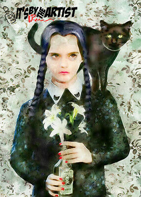ACEO The Addams Family - Wednesday Addams