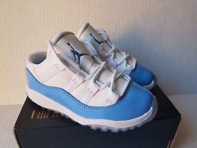 Nike Air Jordan Retro XI 11 Low BT White University Blue Size 10c Toddler Jordan