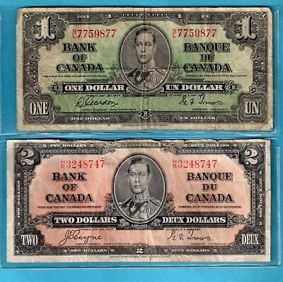 **   [[  2  ]]  Notes From Bank Of  Canada 1937    ****